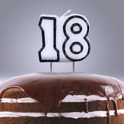 18 års Fødselsdag Lys og Stjernekastere