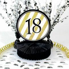 18 års Fødselsdag Borddekorationer