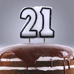 21 års Fødselsdag Lys og Stjernekastere