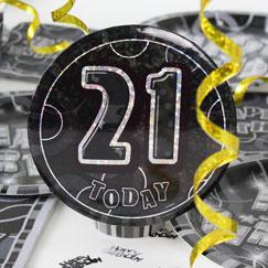 21 års Fødselsdag Fest Tilbehør