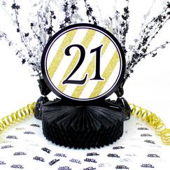 21 års Fødselsdag Borddekorationer