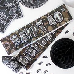 40 års Fødselsdag Bannere