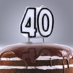 40 års Fødselsdag Lys og Stjernekastere