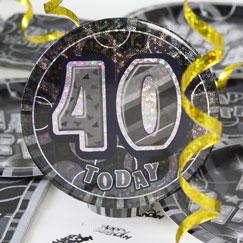 40 års Fødselsdag Fest Tilbehør