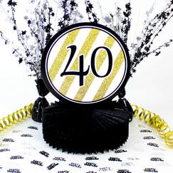 40 års Fødselsdag Borddekorationer