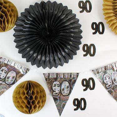 90 års Fødselsdag Dekorationer