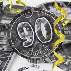90 års Fødselsdag Fest Tilbehør