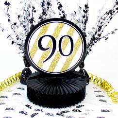 90 års Fødselsdag Borddekorationer