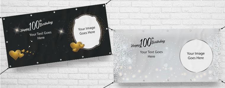 100 års Fødselsdag Bannere med Egen Tekst