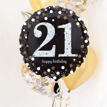21 års Fødselsdag Balloner
