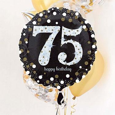 75 års Fødselsdag Balloner