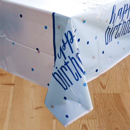 Blue Glitz Happy Birthday Plastikdug - Single
