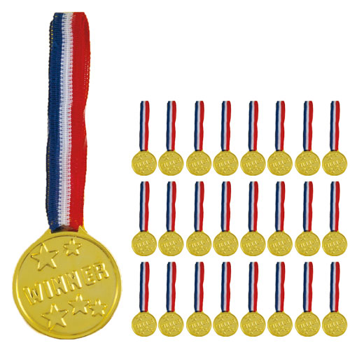 Winner Medaljer - Pakke med 24