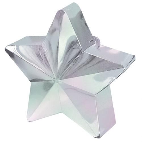 Lille Iriserende Stjerne Ballonvægt - Single