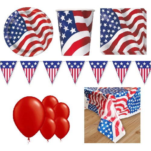 USA 8 Person Deluxe Party Pack