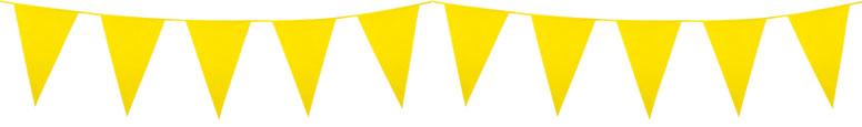 Gul Vimpel Guirlande 10 m - Single