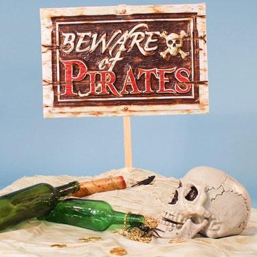 Pirat Sørøver Dekorationer