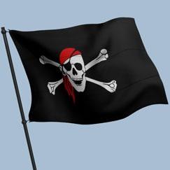 Pirat Sørøver Flag, Guirlander og Bannere