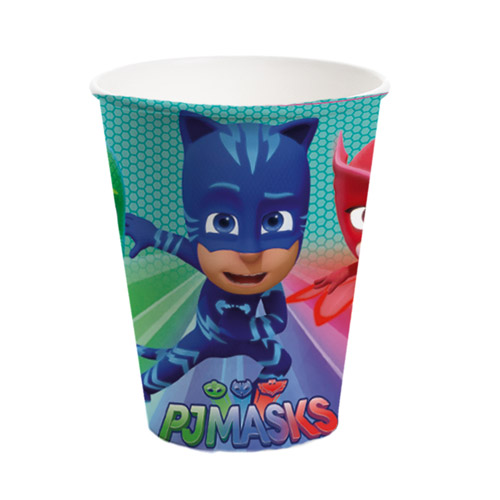 PJ Masks Paper Cups 260ml - Pack of 8