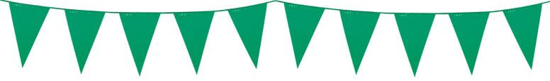 Green Plastic Pennant Bunting 10m
