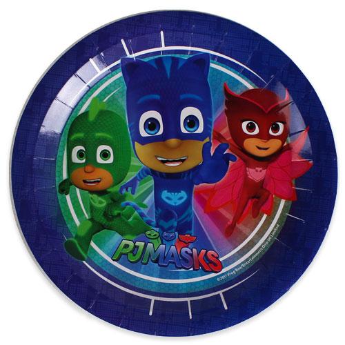 PJ Masks Round Paper Plates 23cm - Pack of 8