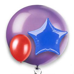 Alle Ensfarvede Balloner