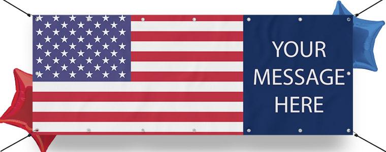 USA Tema Bannere med Egen Design