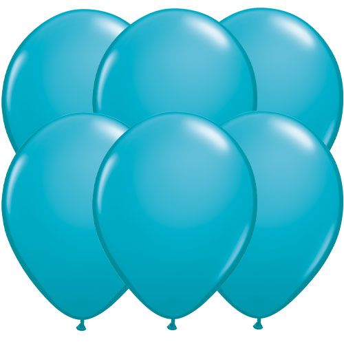 Tropical Caribbean Teal Round Latex Qualatex Balloons 28cm / 11 in - Pack of 10