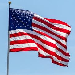 USA Flag og Guirlander