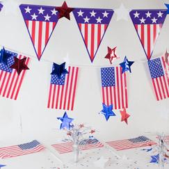 USA Tema Fest Dekorationer