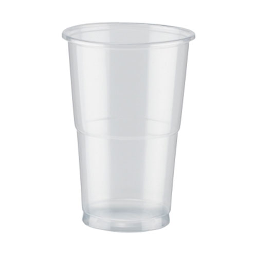 PLA Clear Compostable Half Pint Glasses 284ml / 10 oz - Pack of 50