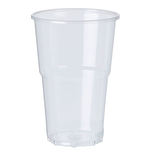 PLA Clear Compostable Pint Glasses 568ml / 20 oz - Pack of 50