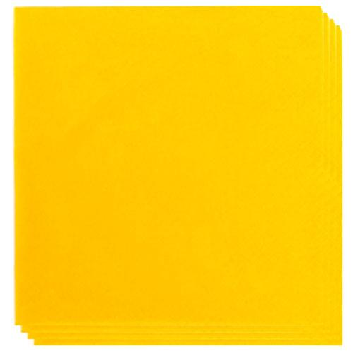 Yellow Napkins 40cm 2Ply - Pack of 100