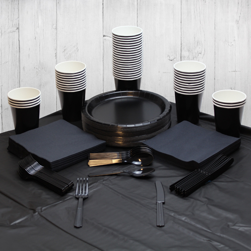 Black 56 Person Party Pack