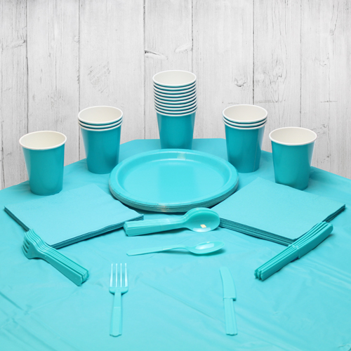 Caribbean Teal 14 Person Party Pack