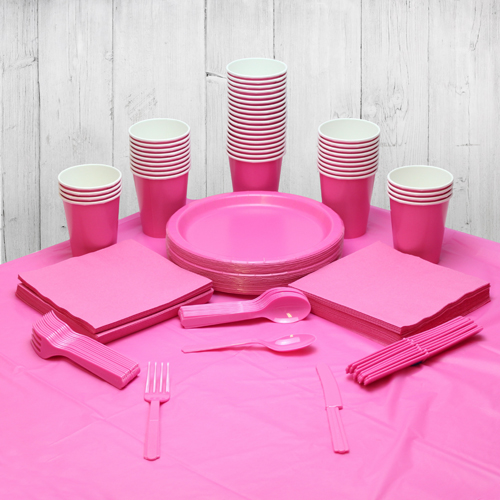 Hot Pink 56 Person Party Pack