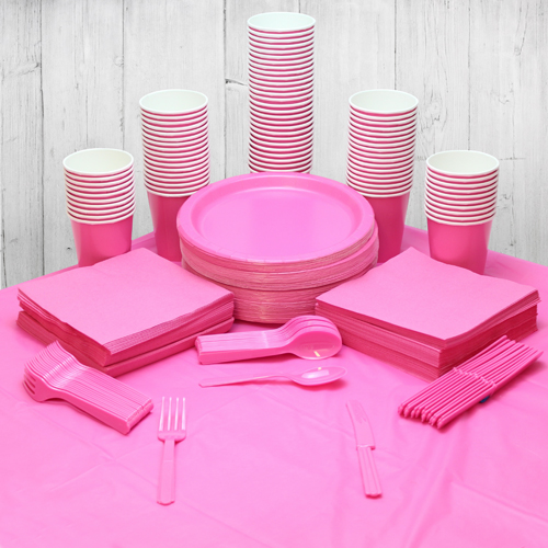 Hot Pink 98 Person Party Pack