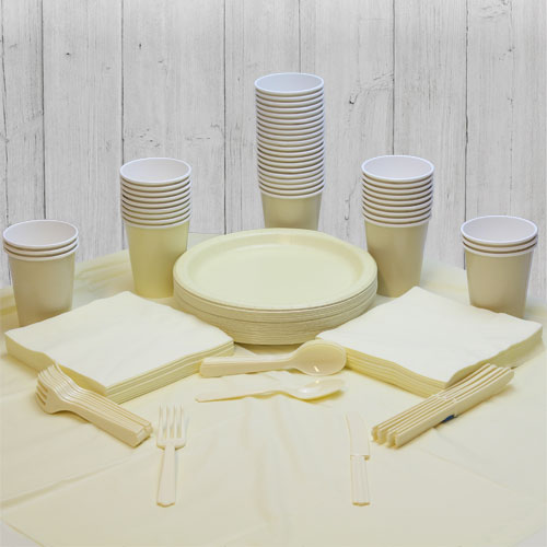 Ivory 56 Person Party Pack