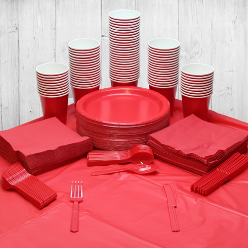 Red 98 Person Party Pack