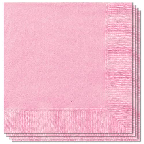 Lovely Pink Luncheon Napkins 33cm 2ply - Pack of 20