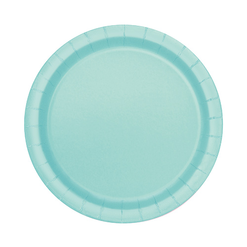 Mint Round Paper Plates 17cm - Pack of 20