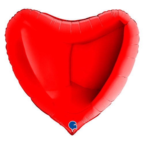 Red Heart Shape Foil Helium Giant Balloon 91cm / 36 in