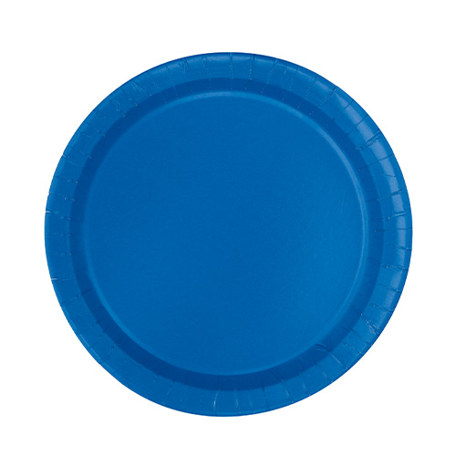 Royal Blue Round Paper Plates 17cm - Pack of 20